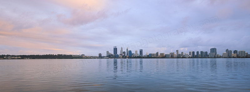 Perth and the Swan River at Sunrise, 14th May 2016