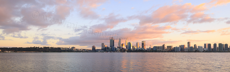Perth and the Swan River at Sunrise, 15th May 2016