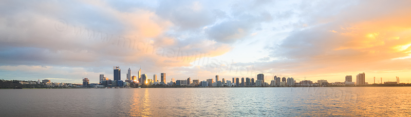 Perth and the Swan River at Sunrise, 17th May 2016