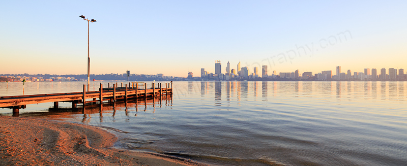 Perth and the Swan River at Sunrise, 20th May 2016