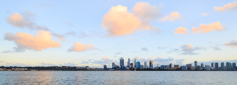 Perth and the Swan River at Sunrise, 22nd May 2016