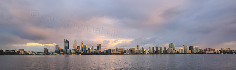 Perth and the Swan River at Sunrise, 25th May 2016