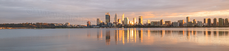 Perth and the Swan River at Sunrise, 29th May 2016