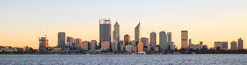 Perth and the Swan River at Sunrise, 2nd June 2016
