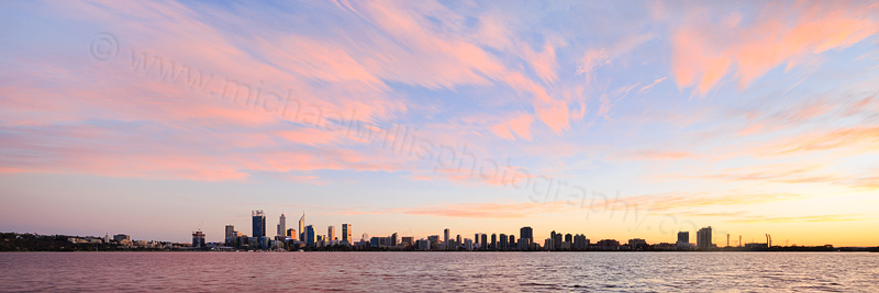 Perth and the Swan River at Sunrise, 3rd June 2016