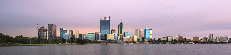 Perth and the Swan River at Sunrise, 13th June 2016