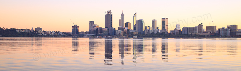 Perth and the Swan River at Sunrise, 15th June 2016
