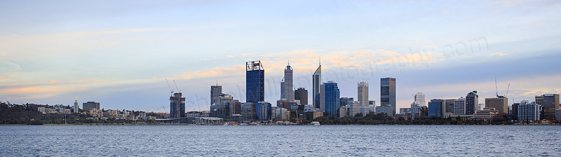 Perth and the Swan River at Sunrise, 5th July 2016
