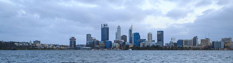 Perth and the Swan River at Sunrise, 8th July 2016