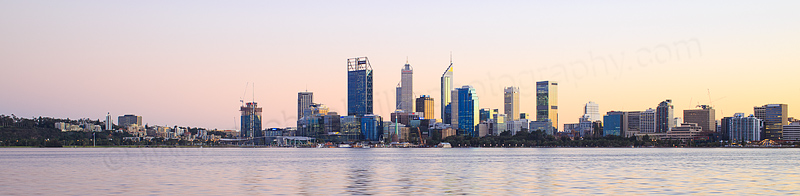 Perth and the Swan River at Sunrise, 14th July 2016