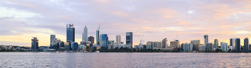 Perth and the Swan River at Sunrise, 15th July 2016