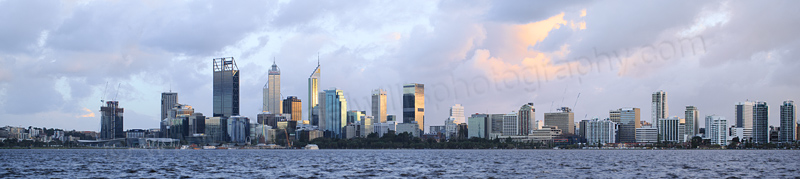 Perth and the Swan River at Sunrise, 17th July 2016