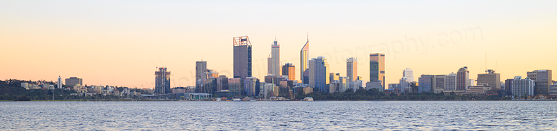Perth and the Swan River at Sunrise, 20th July 2016