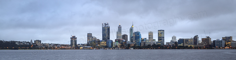 Perth and the Swan River at Sunrise, 21st July 2016