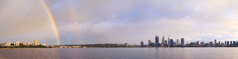 Perth and the Swan River at Sunrise, 23rd July 2016