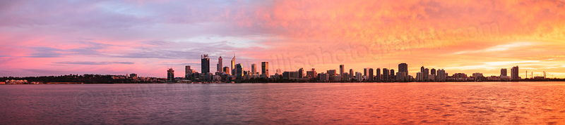 Perth and the Swan River at Sunrise, 3rd August 2016