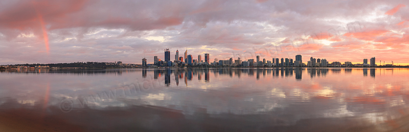 Perth and the Swan River at Sunrise, 13th August 2016