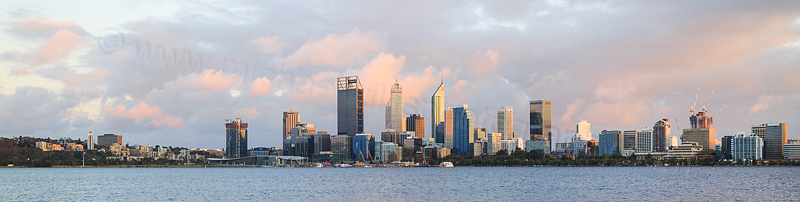 Perth and the Swan River at Sunrise, 23rd September 2016