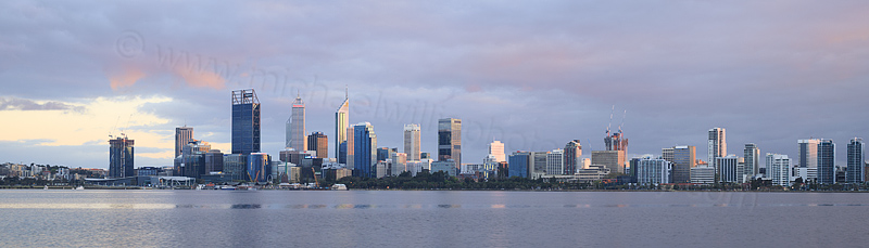 Perth and the Swan River at Sunrise, 24th September 2016