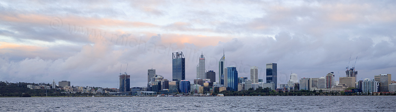 Perth and the Swan River at Sunrise, 27th September 2016
