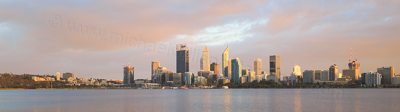 Perth and the Swan River at Sunrise, 28th September 2016