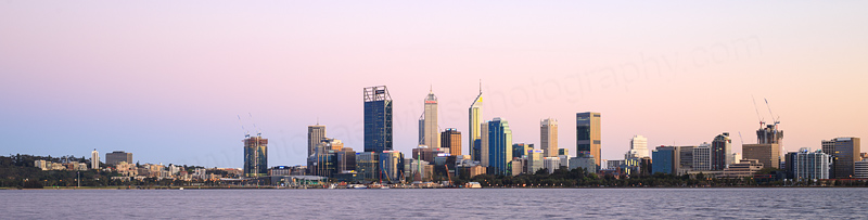 Perth and the Swan River at Sunrise, 29th September 2016
