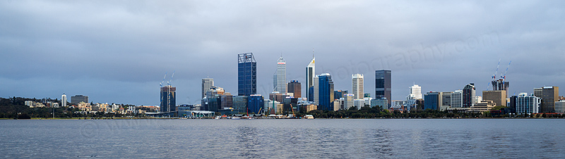 Perth and the Swan River at Sunrise, 3rd October 2016