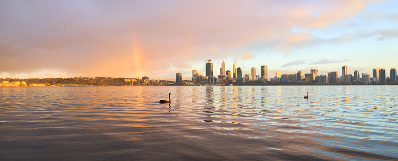 Rainbow over Perth at Sunrise, 4th October 2016