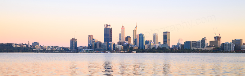 Perth and the Swan River at Sunrise, 5th October 2016
