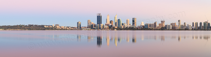 Perth and the Swan River at Sunrise, 5th November 2016