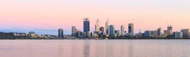 Perth and the Swan River at Sunrise, 10th November 2016