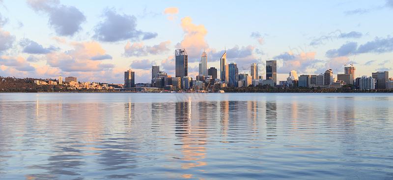 Perth and the Swan River at Sunrise, 11th November 2016