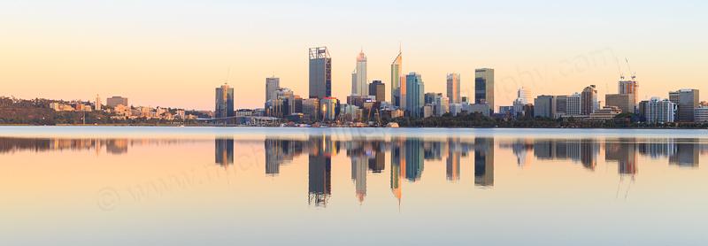 Perth and the Swan River at Sunrise, 13th November 2016