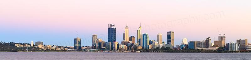 Perth and the Swan River at Sunrise, 14th November 2016