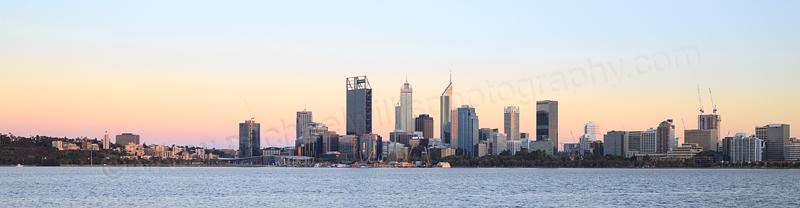 Perth and the Swan River at Sunrise, 15th November 2016