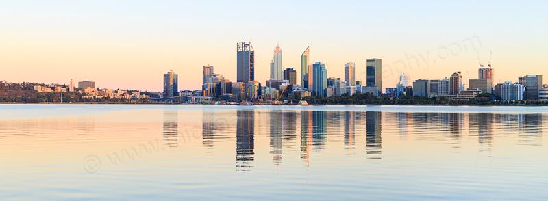 Perth and the Swan River at Sunrise, 18th November 2016