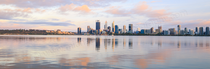 Perth and the Swan River at Sunrise, 20th November 2016