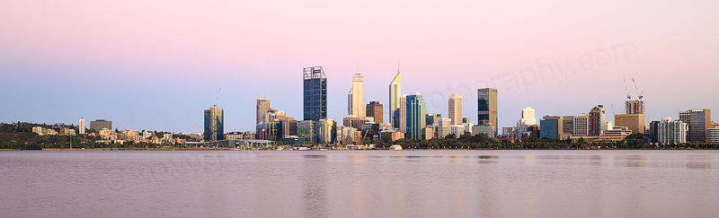 Perth and the Swan River at Sunrise, 22nd November 2016