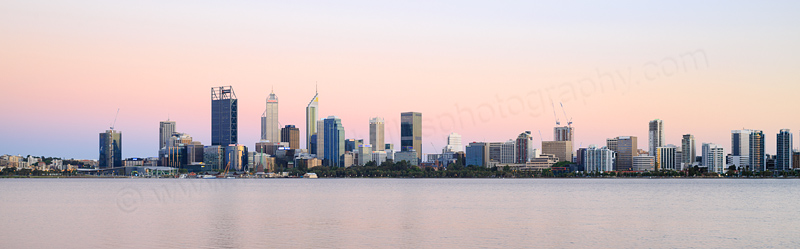 Perth and the Swan River at Sunrise, 23rd November 2016
