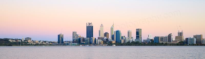 Perth and the Swan River at Sunrise, 24th November 2016