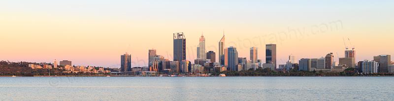 Perth and the Swan River at Sunrise, 25th November 2016