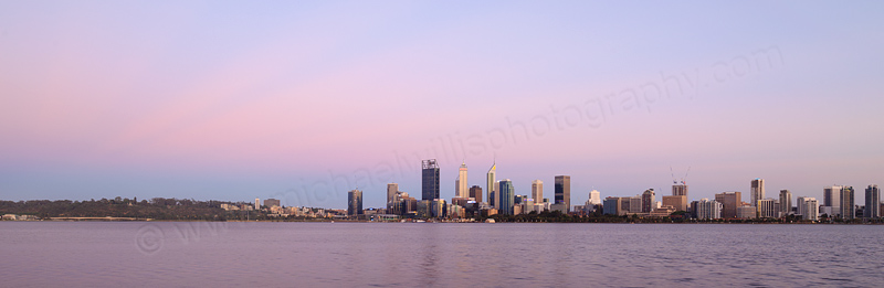 Perth and the Swan River at Sunrise, 28th November 2016