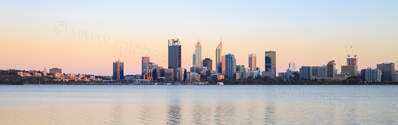 Perth and the Swan River at Sunrise, 30th November 2016