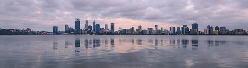 Perth and the Swan River at Sunrise, 3rd December 2016