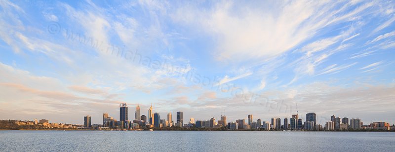 Perth and the Swan River at Sunrise, 4th December 2016