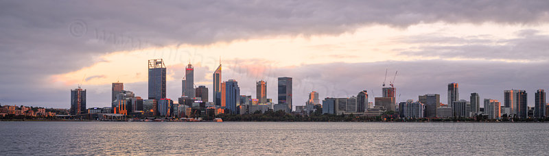 Perth and the Swan River at Sunrise, 7th December 2016