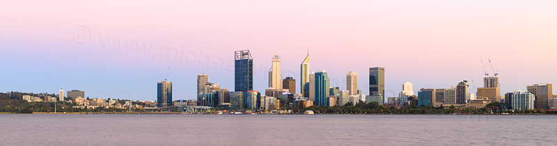 Perth and the Swan River at Sunrise, 8th December 2016