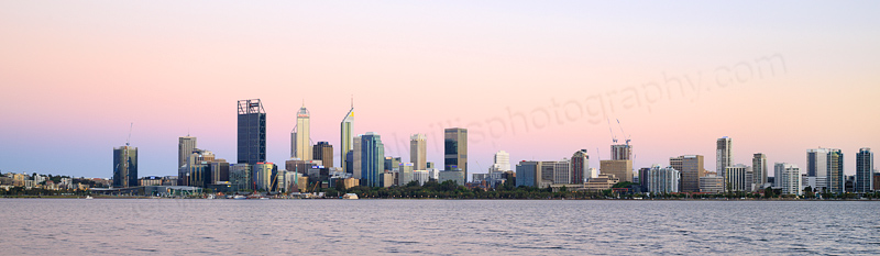 Perth and the Swan River at Sunrise, 9th December 2016
