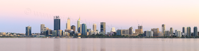 Perth and the Swan River at Sunrise, 10th December 2016