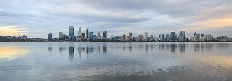 Perth and the Swan River at Sunrise, 12th December 2016